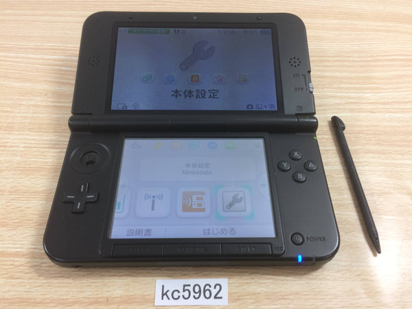 kc5962 Plz Read Item Condi Nintendo 3DS LL XL 3DS Black Console Japan