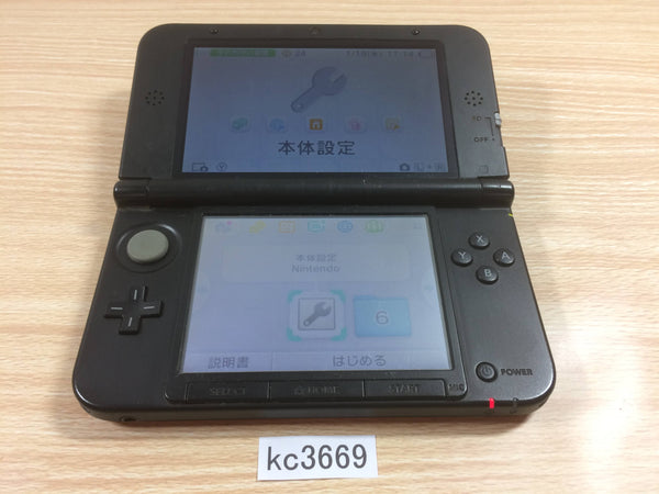 kc3669 Plz Read Item Condi Nintendo 3DS LL XL 3DS Red Black Console Japan