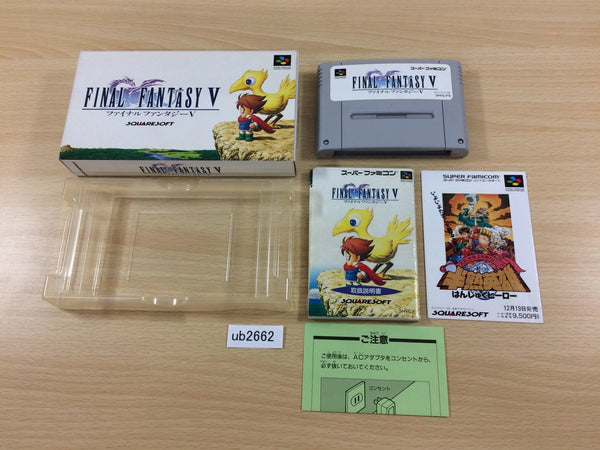 ub2662 Final Fantasy 5 V BOXED SNES Super Famicom Japan