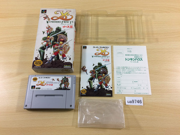 ua9746 Ys III 3 Wanderers from Ys BOXED SNES Super Famicom Japan