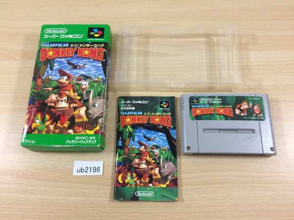 ub2196 Super Donkey Kong Country BOXED SNES Super Famicom Japan