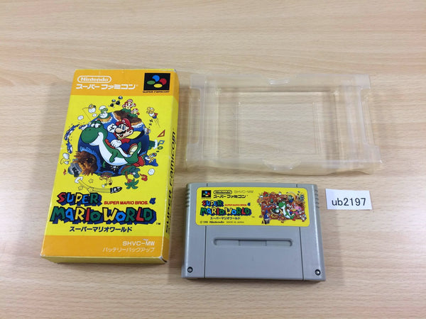 ub2197 Super Mario World BOXED SNES Super Famicom Japan
