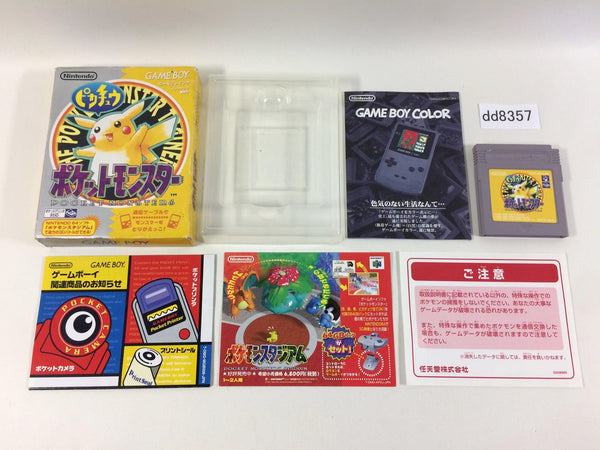 dd8357 Pokemon Pikachu Yellow BOXED GameBoy Game Boy Japan