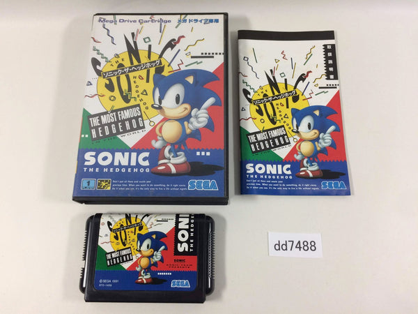 dd7488 Sonic The Hedgehog BOXED Mega Drive Genesis Japan