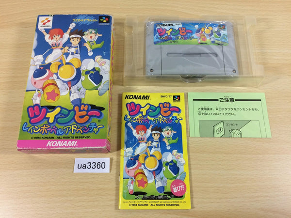 ua3360 TwinBee Rainbow Bell Adventure Pop'n BOXED SNES Super Famicom Japan