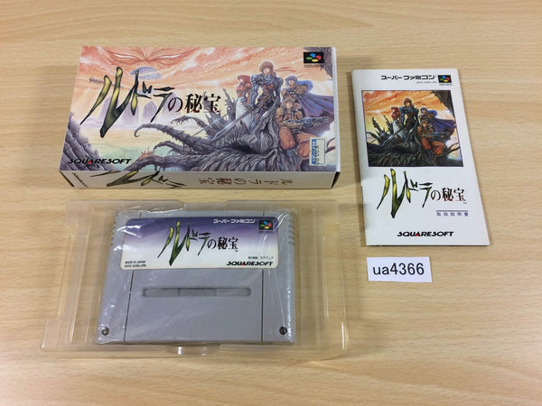 ua4366 Treasure of the Rudras Rudra no Hihou BOXED SNES Super Famicom Japan