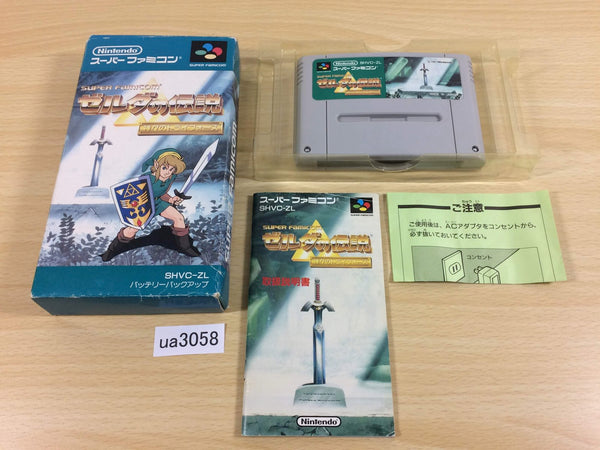 ua3058 The Legend Of Zelda A Link to the Past BOXED SNES Super Famicom Japan