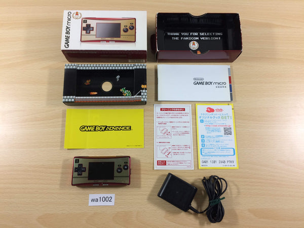 wa1002 GameBoy Micro Famicom Ver. BOXED Game Boy Console Japan