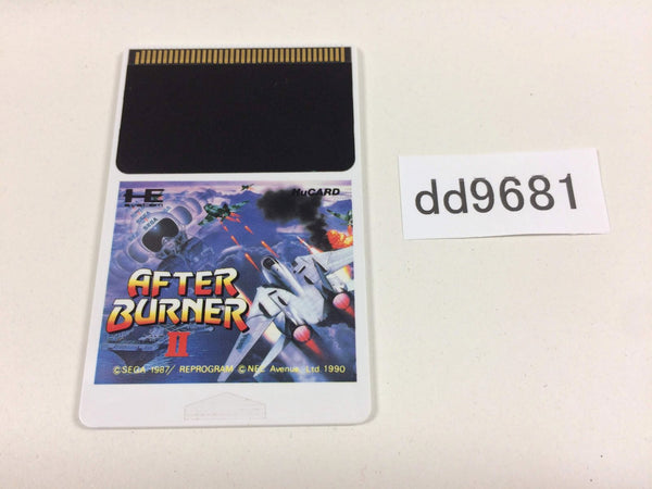 dd9681 After Burner 2 PC Engine Japan
