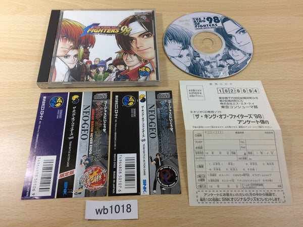 wb1018 King of Fighters 98 Limited Edition without Calendar NEO GEO CD Japan