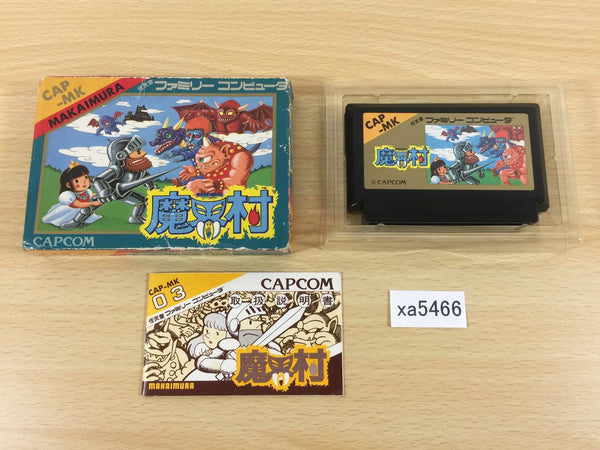 xa5466 Ghosts'n Goblins Makaimura BOXED NES Famicom Japan