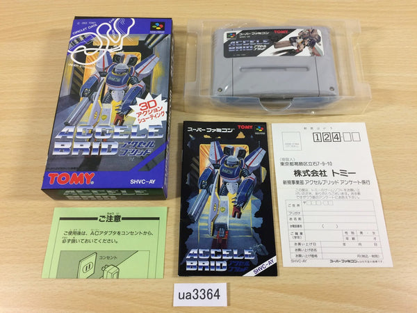 ua3364 Accele Brid BOXED SNES Super Famicom Japan