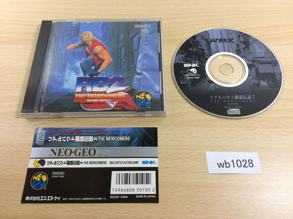 wb1028 Real Bout Fatal Fury 2 NEO GEO CD Japan