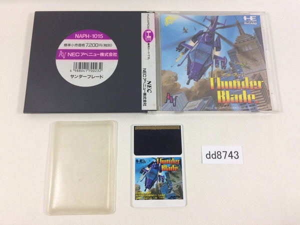 dd8743 Thunder Blade BOXED PC Engine Japan