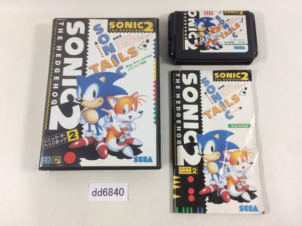 dd6840 Sonic The Hedgehog 2 BOXED Mega Drive Genesis Japan