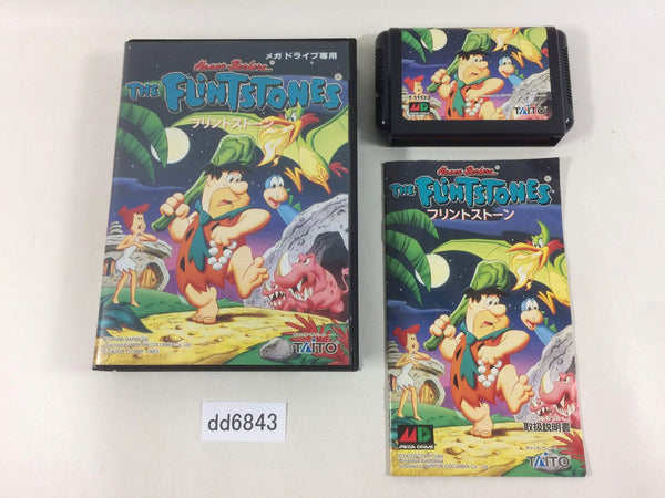 dd6843 The Flintstones BOXED Mega Drive Genesis Japan