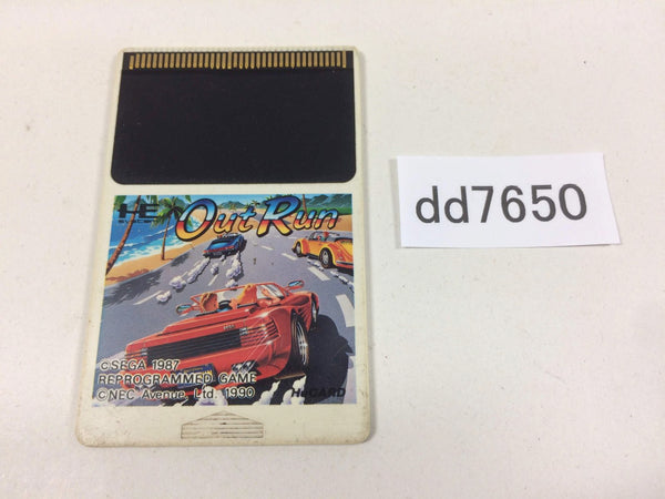 dd7650 Out Run PC Engine Japan