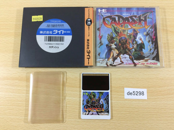 de5298 Cadash BOXED PC Engine Japan