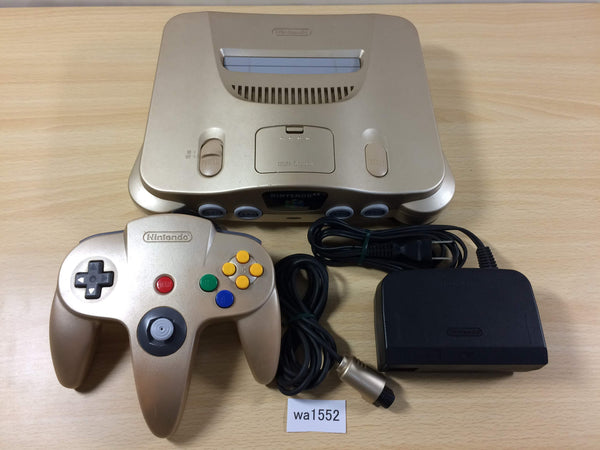 wa1552 Nintendo 64 GOLD Console Set N64 Japan