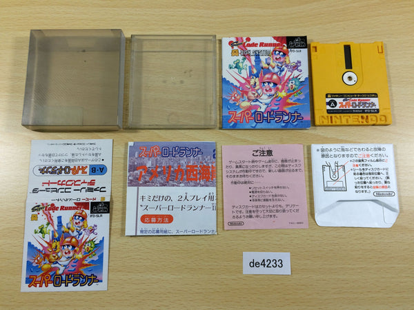de4233 Super Lode Runner BOXED Famicom Disk Japan