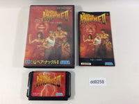 dd8258 Bare Knuckle II Shitou e no Shinkonka BOXED Mega Drive Genesis Japan