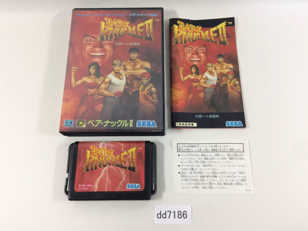 dd7186 Bare Knuckle II Shitou e no Shinkonka BOXED Mega Drive Genesis Japan