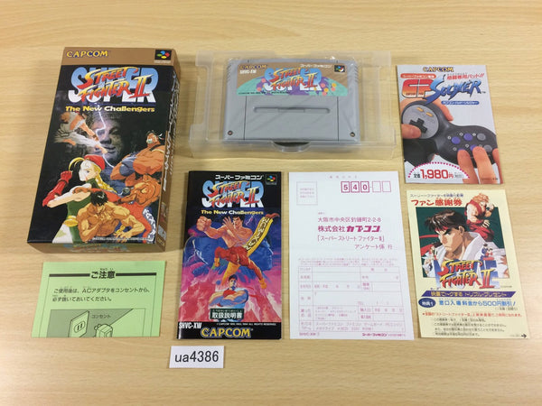 ua4386 Super Street Fighter II 2 BOXED SNES Super Famicom Japan