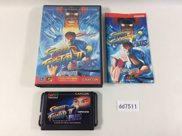 dd7511 Street Fighter II' Plus Champion Edition BOXED Mega Drive Genesis Japan
