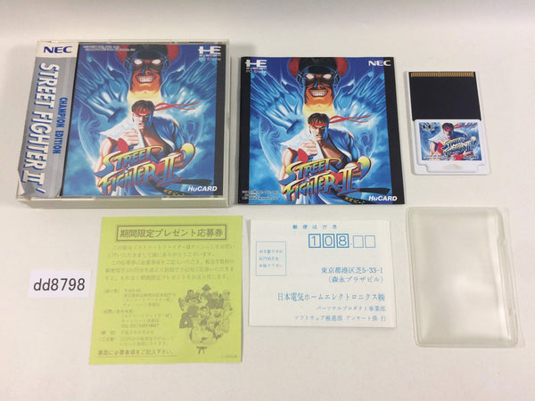 dd8798 Street Fighter II Dash BOXED PC Engine Japan