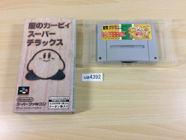 ua4392 Kirby Super Deluxe Star Kirby's Fun Pak BOXED SNES Super Famicom Japan