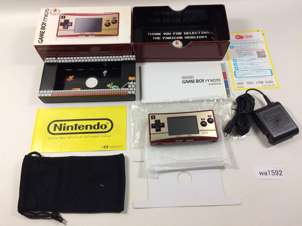 wa1592 GameBoy Micro Famicom Ver. BOXED Game Boy Console Japan
