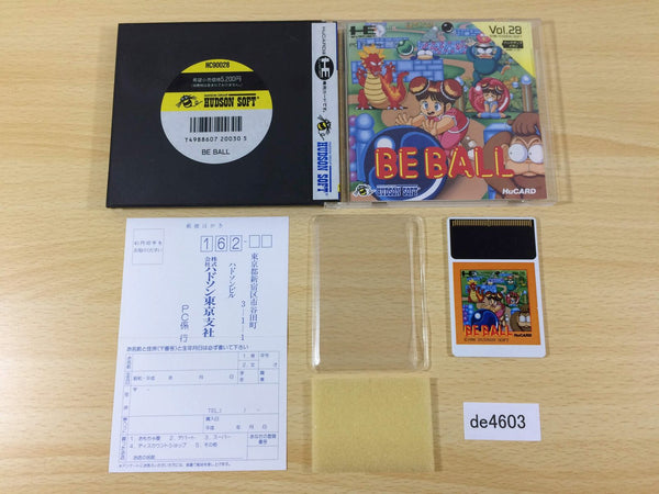 de4603 Be Ball BOXED PC Engine Japan