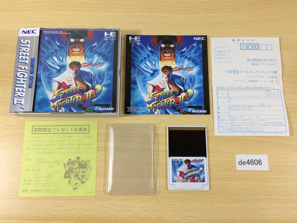 de4606 Street Fighter II Dash BOXED PC Engine Japan