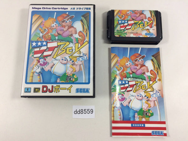 dd8559 DJ Boy BOXED Mega Drive Genesis Japan