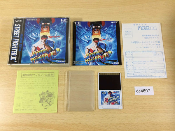 de4607 Street Fighter II Dash BOXED PC Engine Japan