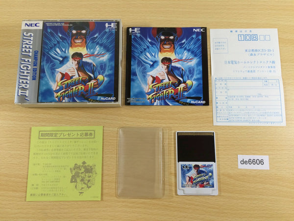 de6606 Street Fighter II Dash BOXED PC Engine Japan