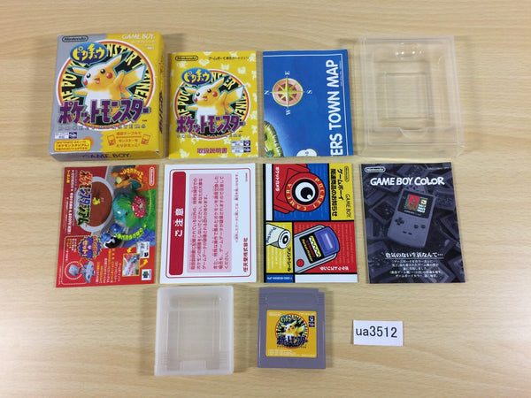 ua3512 Pokemon Pikachu Yellow BOXED GameBoy Game Boy Japan