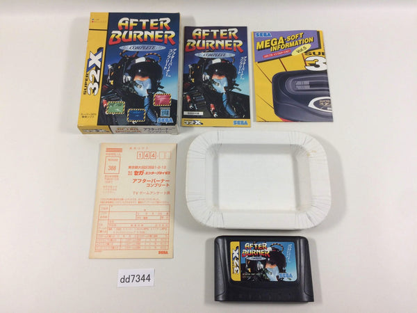 dd7344 After Burner Complete SUPER 32X BOXED Mega Drive Genesis Japan