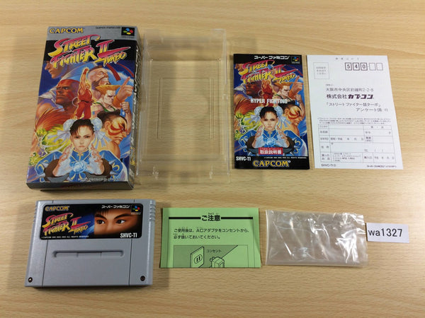 wa1327 Street Fighter II 2 Turbo BOXED SNES Super Famicom Japan