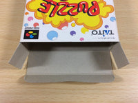 ua3246 Puzzle Bobble BOXED SNES Super Famicom Japan