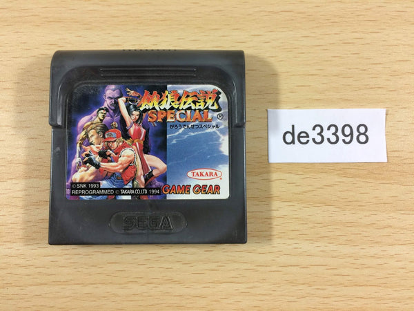 de3398 Fatal Fury Special Sega Game Gear Japan