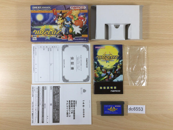 dc6553 Klonoa Heroes Densetsu no Star Medal BOXED GameBoy Advance Japan