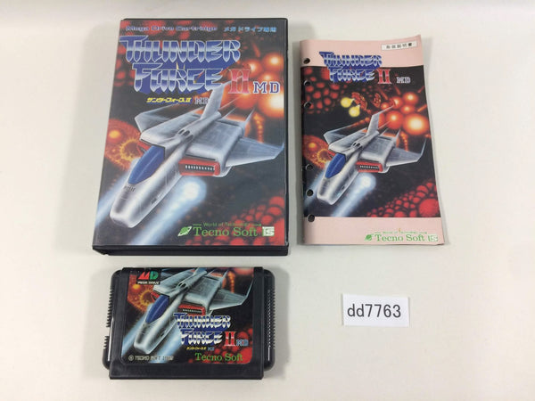 dd7763 Thunder Force II MD BOXED Mega Drive Genesis Japan