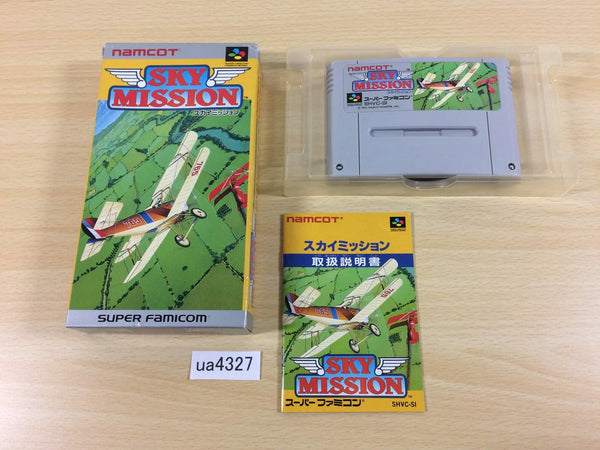 ua4327 Sky Mission Wings 2 Aces High Blazing Skies BOXED SNES SuperFamicom Japan