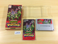 ua8838 TMNT Turtles Mutant Warriors BOXED SNES Super Famicom Japan