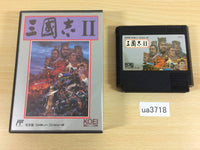ua3718 SANGOKUSHI Records of the Three Kingdoms 2 BOXED NES Famicom Japan