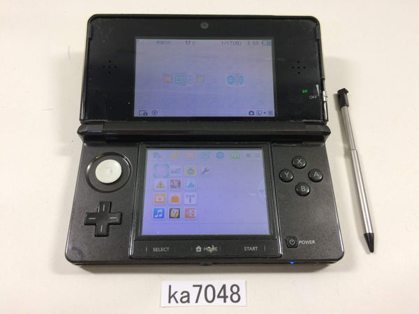 ka7048 Nintendo 3DS Cosmo Black Console Japan
