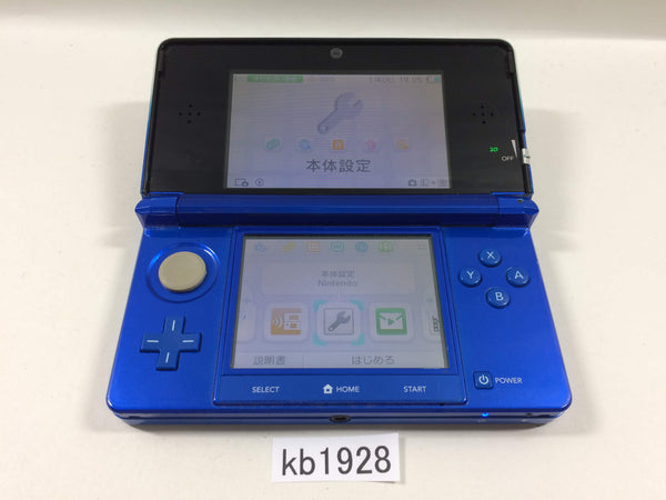 kb1928 Plz Read Item Condi Nintendo 3DS Cobalt Blue Console Japan