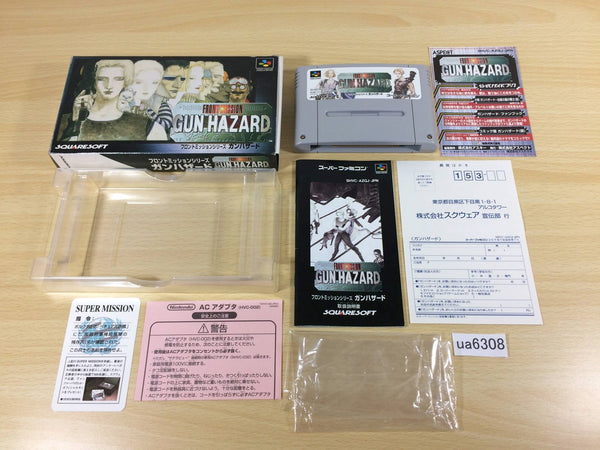ua6308 Front Mission Series Gun Hazard BOXED SNES Super Famicom Japan