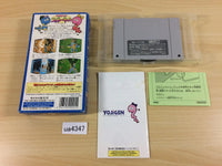 ua4347 Super Snakey BOXED SNES Super Famicom Japan